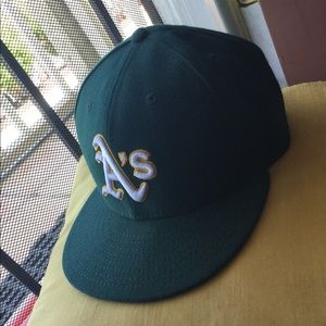Green A's Dad cap